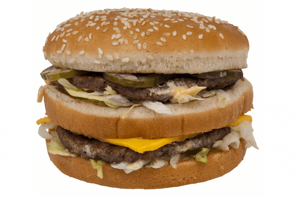 Cheeseburger with sesame seed bun